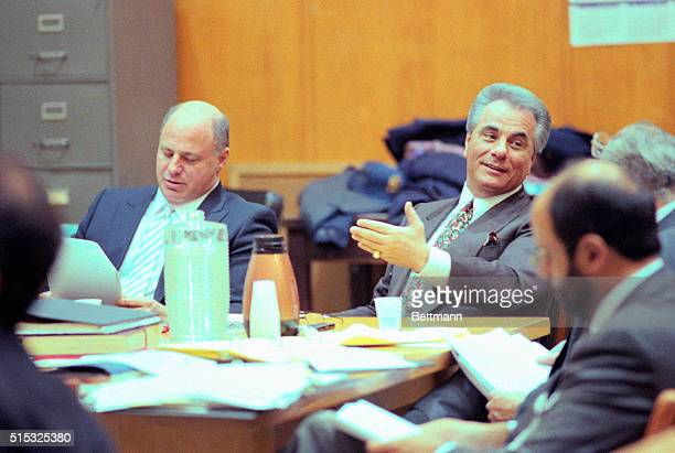 A smiling John Gotti gestures as he chats with one of his attorneys during his assault trial here 1/30 A secret taped recording of the alleged Mafia...