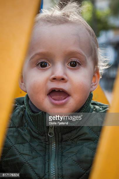 smiling little boy - dorte fjalland stock-fotos und bilder