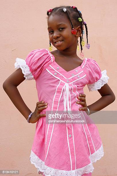 a smiling little girl doing as top model - child super models stock pictures, royalty-free photos & images