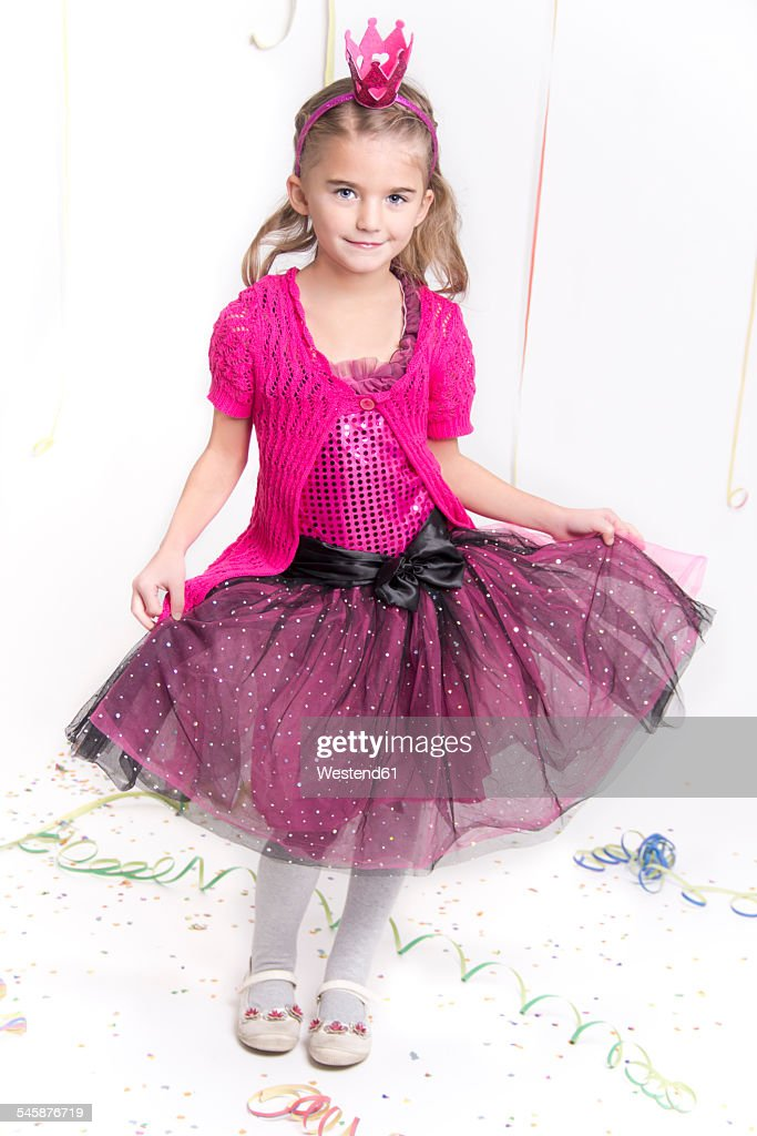 Smiling Little Girl Masquerade As A Princess Stock Photo Getty Images