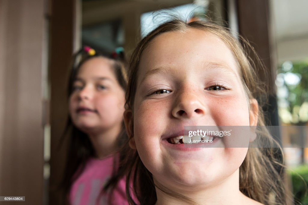 Smiling little girls : Stock Photo