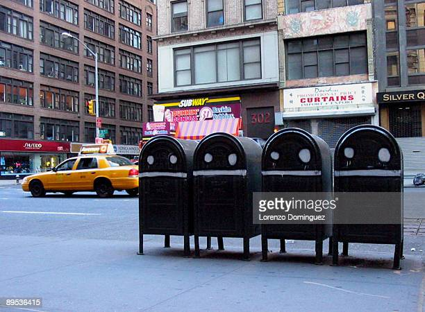 4 Smiling Mailboxes in New York City