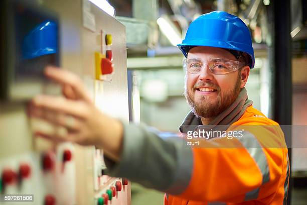 Smiling maintenance engineer