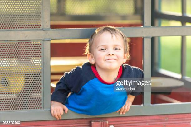 smiling male toddler