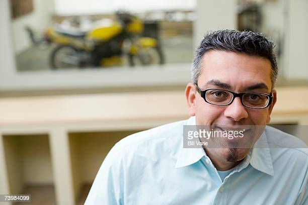 Smiling man in an office