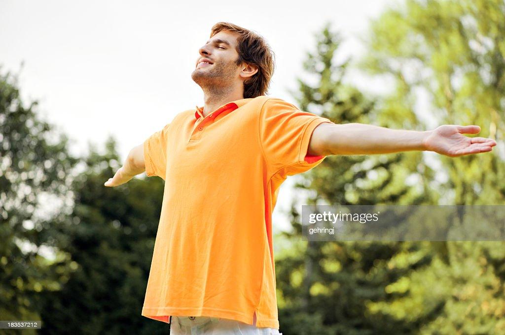 若い男性の公園 : ストックフォト