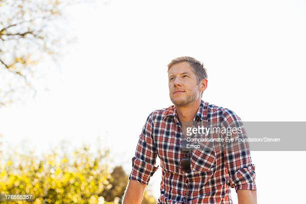 Smiling man outdoors