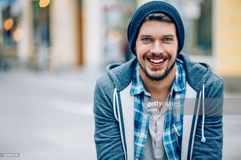 Lächelnde Mann : Stock-Foto