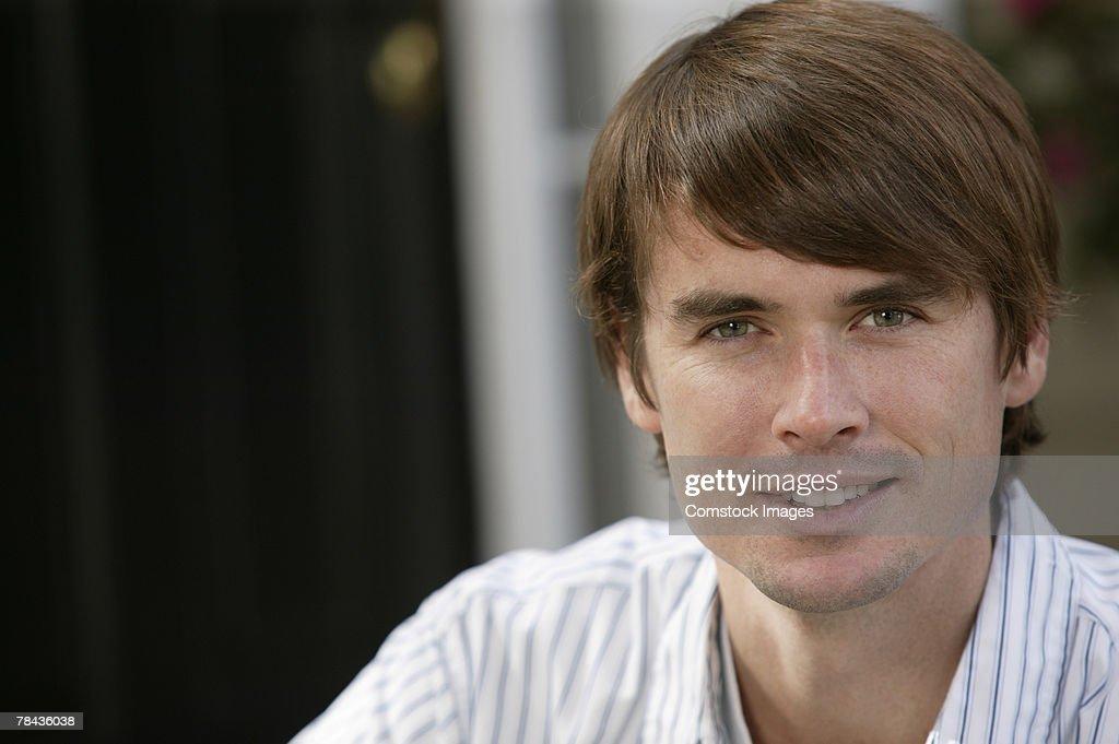 Smiling man : Stockfoto