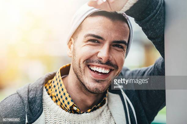smiling man portrait - toothy smile stock pictures, royalty-free photos & images