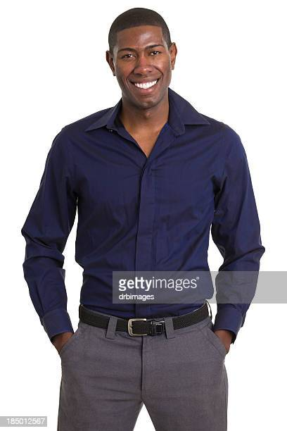 smiling man standing portrait - all shirts stock pictures, royalty-free photos & images