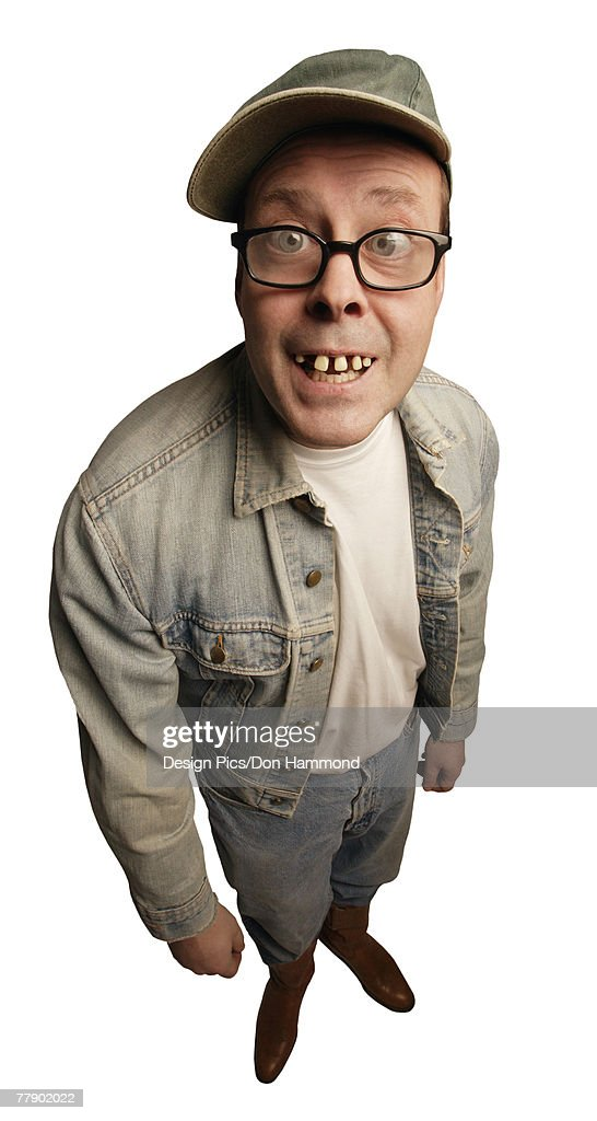 Smiling man with buck teeth : Stock Photo