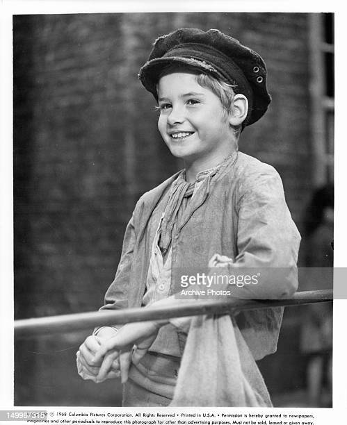 Smiling Mark Lester in a scene from the film 'Oliver!', 1968.