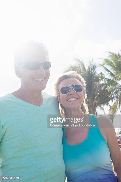"smiling mature couple outdoors - ""compassionate eye"" stock-fotos und bilder"