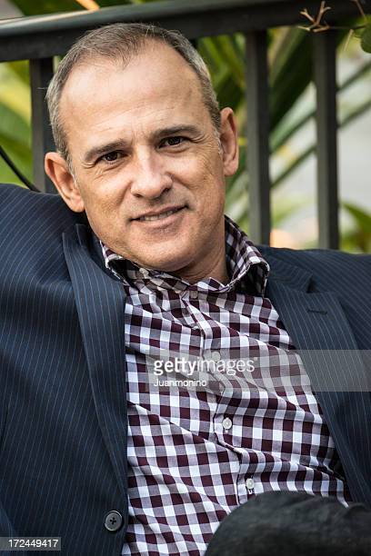 smiling mature man - southern european descent stock pictures, royalty-free photos & images