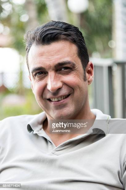 Smiling mature man