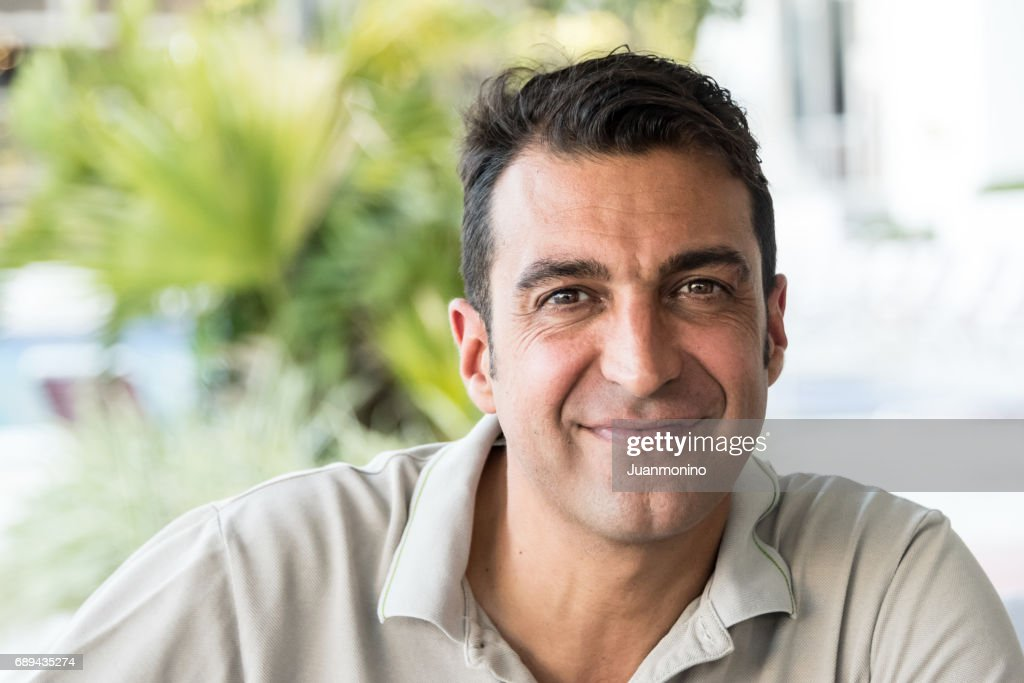 Lächelnd Reifer Mann : Stock-Foto