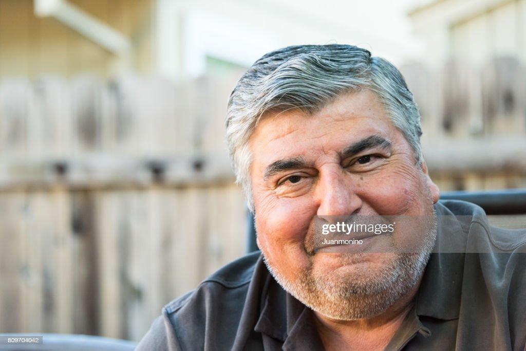 Smiling mature senior man : Stock Photo