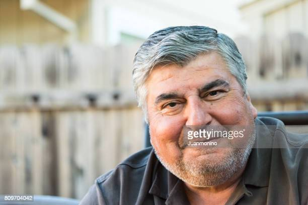 smiling mature senior man - heavy stock pictures, royalty-free photos & images