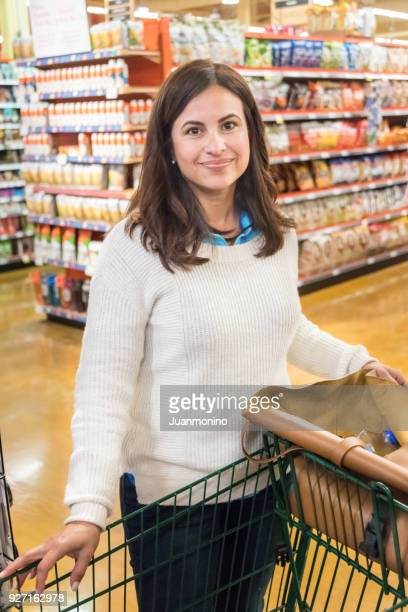 Smiling Mature Woman at the supermarket