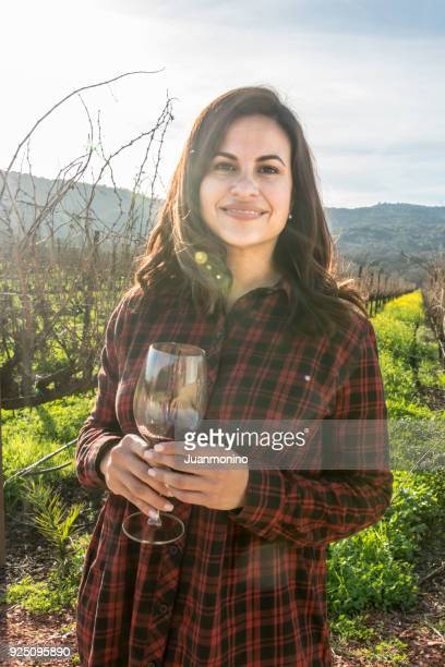 Smiling Mature Woman having a glass of wine