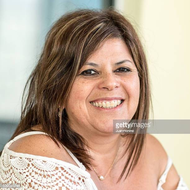 smiling mature woman - arab women fat stock pictures, royalty-free photos & images
