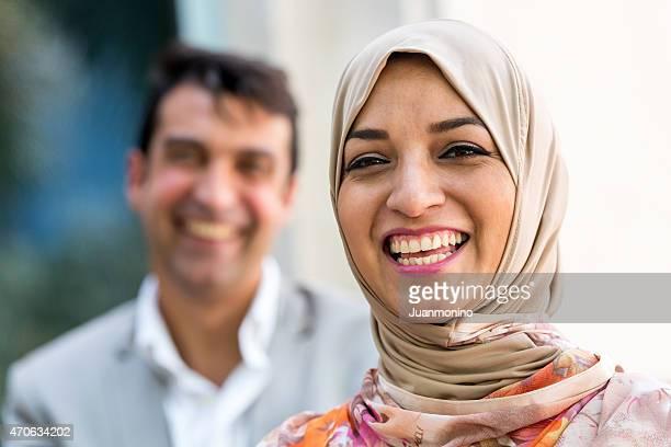 Lächelnden nahöstlichen Paar