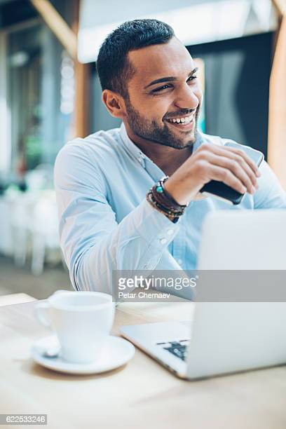 Smiling Middle Eastern ethnicity businessman