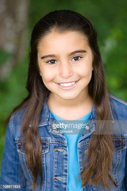 Smiling Middle Eastern girl