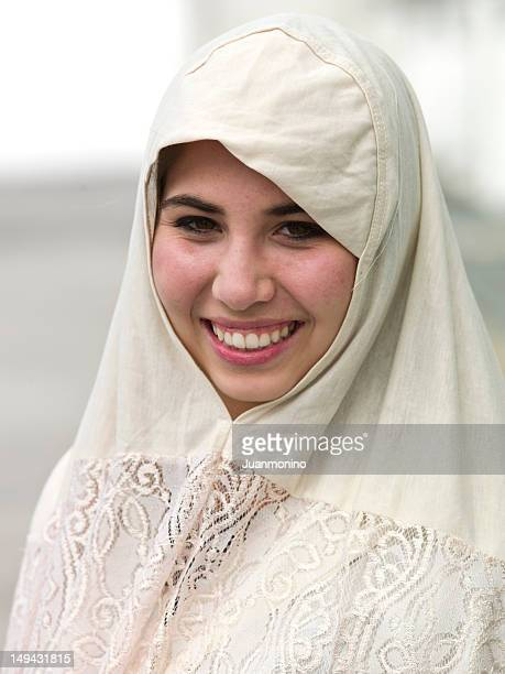 smiling middle eastern teenage girl - kurdish girl stock photos and pictures
