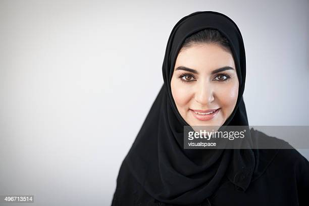 smiling middle eastern woman portrait - arabia stock pictures, royalty-free photos & images