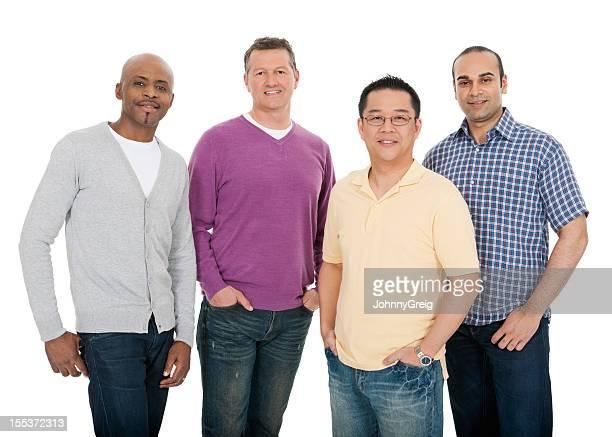 Smiling Multi Ethnic Men