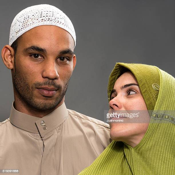 Souriant couple musulman