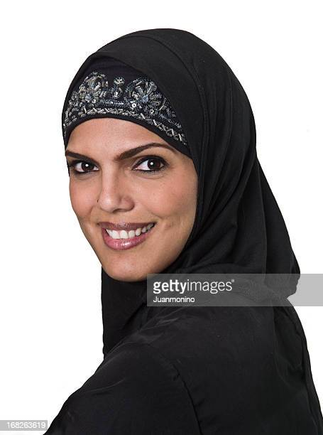 smiling muslim woman - iranian woman stock photos and pictures