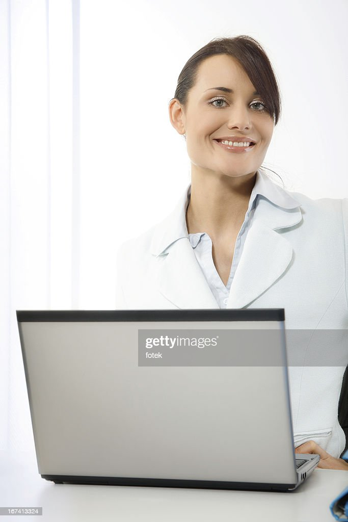 Smiling office worker : Stockfoto