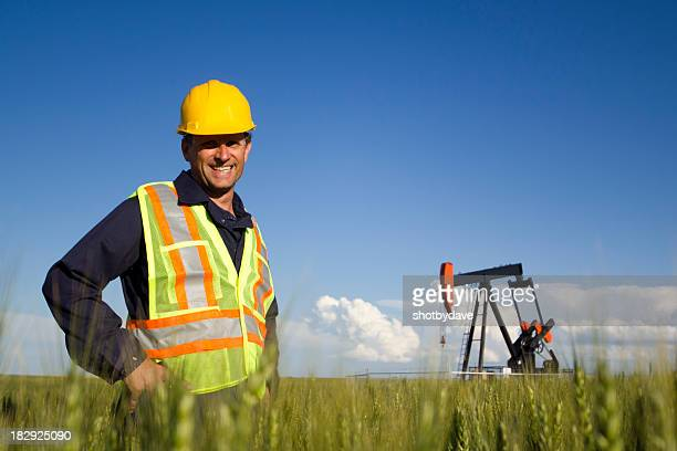 Smiling Oil Worker