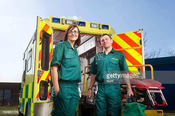 Smiling paramedics