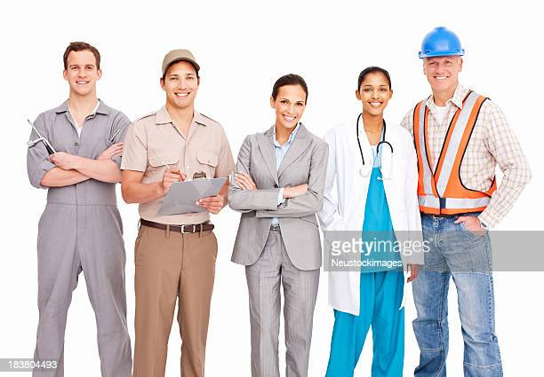 Smiling People Of Various Occupations - Isolated