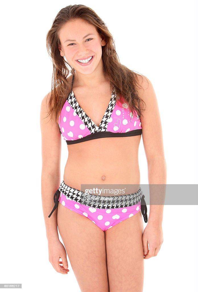 In that pokadot bikini girl