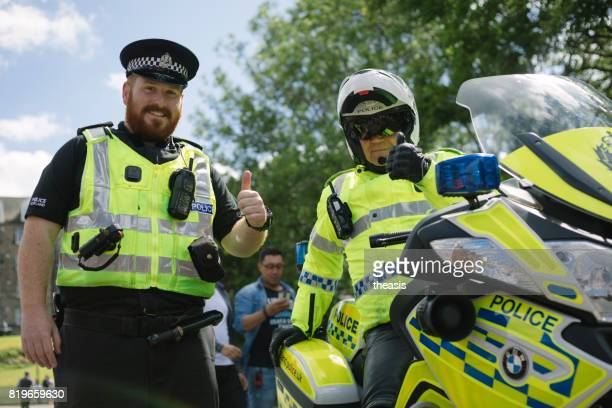 Smiling Police at an Edinburgh Parade
