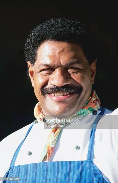Smiling portrait of Fijian chef.