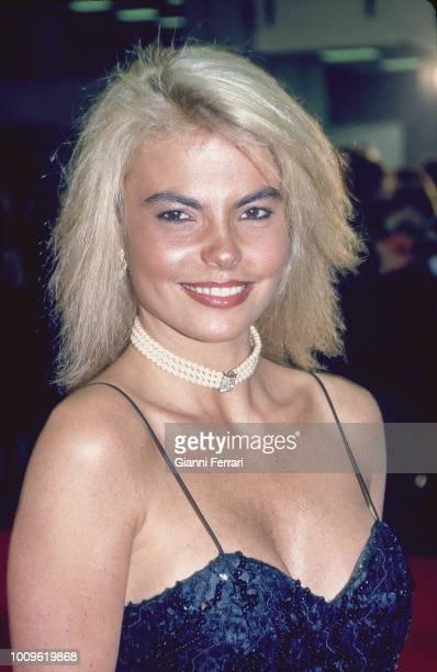 A smiling portrait ot the Spanish TV presenter Leticia Sabater Madrid 1993
