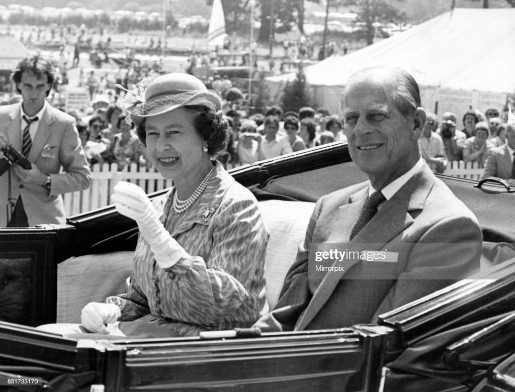 A smiling Queen and Duke of Edinburgh pictured during their visit to the Royal Welsh Show, 21st July 1983.
