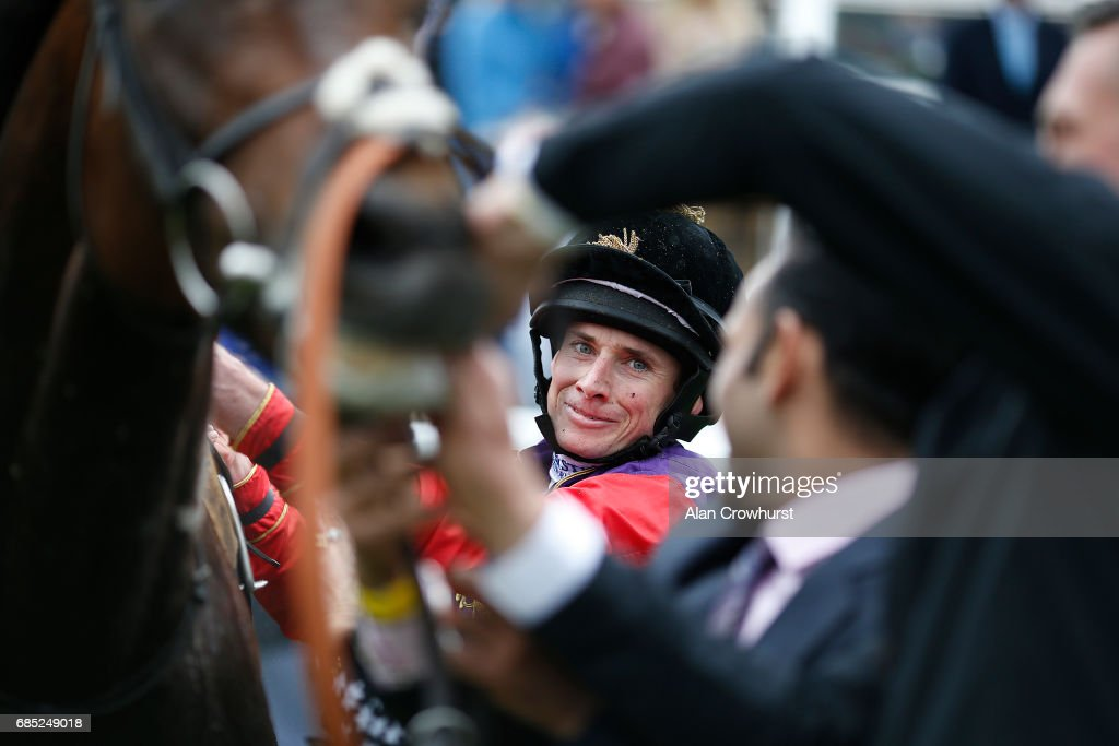 A smiling Ryan Moore after riding Dartmouth to win The Betway Yorkshire Cup at York racecourse on May 19, 2017 in York, England.