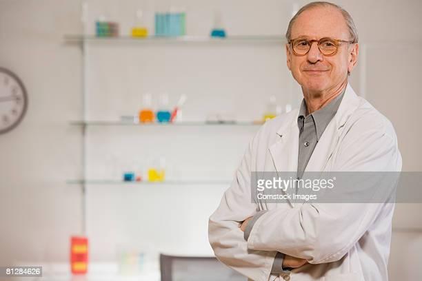 Smiling scientist in lab