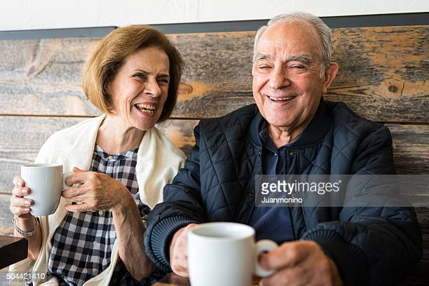 smiling senior couple - iberian ethnicity stock pictures, royalty-free photos & images