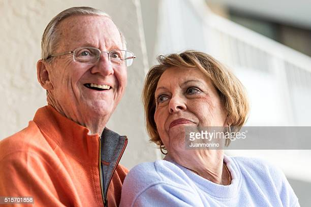 smiling senior couple - stereotypically middle class stock photos and pictures