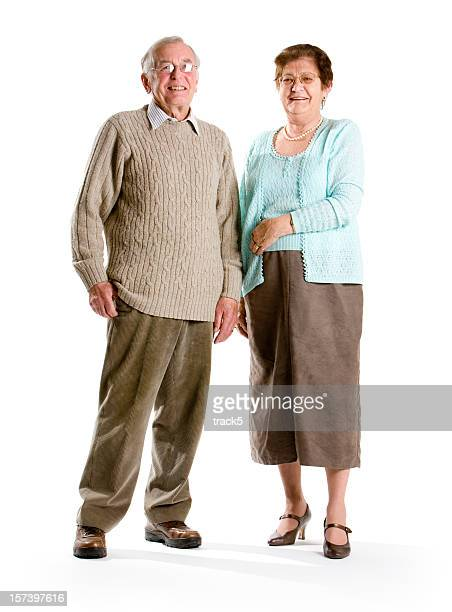 Smiling senior couple standing next to each other