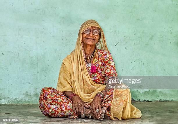 Smiling Senior Indian Woman From Rajastan