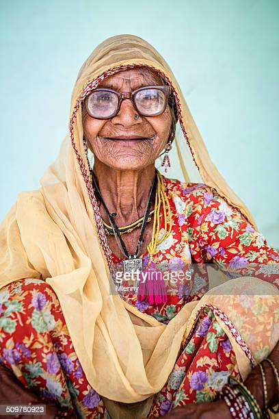 Smiling Senior Indian Woman, Real People Portrait